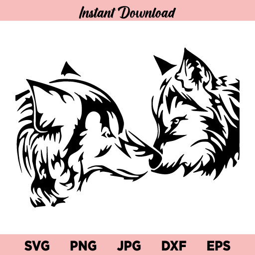 Wolf SVG, Wolf SVG File, Wolf Clipart, Wolf Silhouette, Wolf SVG Files for Cricut, Silhouette Files, Wolf, Wolf Head, Wolf Face, SVG, PNG, DXF