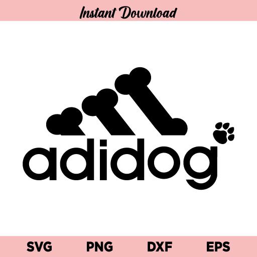 Adidog SVG, Adidog SVG File, Adidog SVG Design, Adidog Logo SVG, Dogs SVG, Adidas SVG, Adidog, SVG, PNG, Cricut, Cut File