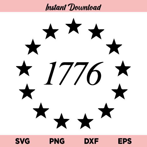 13 Stars 1776 SVG, 13 Star Betsy Ross Union SVG, Betsy Ross Union SVG, Union 13 Stars Betsy Ross US Flag SVG, 13 Stars 1776 SVG Cut File, SVG, PNG, DXF, Cricut, Cut File