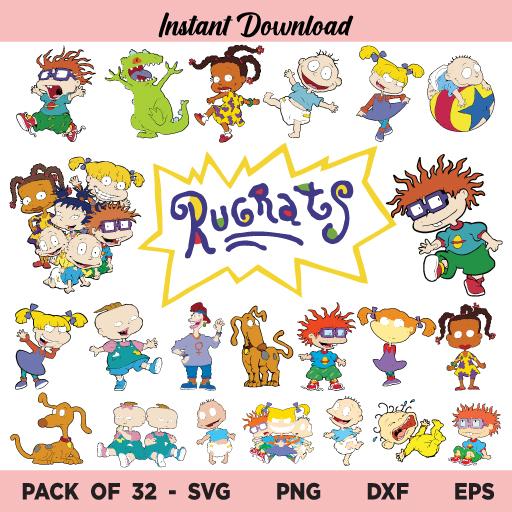 Rugrats SVG Bundle, Rugrats SVG, Rugrats SVG Files, Tommy SVG, Chuckie Finster SVG, Rugrats SVG Birthday, American Baby SVG, Baby Rugrats SVG, Rugrats PNG Bundle, Rugrats, SVG, PNG, DXF, Cricut, Cut File