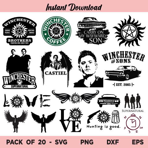 Supernatural SVG, Supernatural SVG Files Bundle, Supernatural Symbol SVG, Supernatural Winchester SVG, Supernatural, SVG, PNG, DXF, Cricut, Cut File