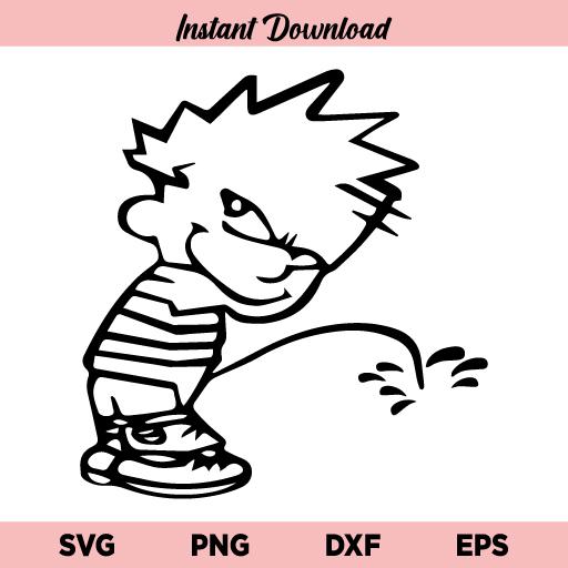 Calvin Boy Peeing SVG, Boy Peeing SVG, Calvin SVG, Boy Peeing SVG, Calvin Peeing SVG, Little Boy Peeing SVG, Funny SVG, Calvin, Boy Peeing, SVG, PNG, DXF, Cricut, Cut File
