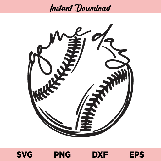 Game Day Baseball SVG, Game Day Baseball SVG File, Game Day Baseball SVG Cut File, Game Day SVG, Softball SVG, Baseball SVG, Baseball Game Day Design SVG, Baseball Game Day, Baseball, Game Day, SVG, PNG, DXF, EPS, Cricut, Cut File, Clipart