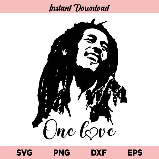 Bob Marley SVG, Bob Marley One Love SVG, Bob Marley PNG, Bob Marley Portrait SVG, One Love SVG, Bob Marley, SVG, PNG, DXF, Cricut, Cut File