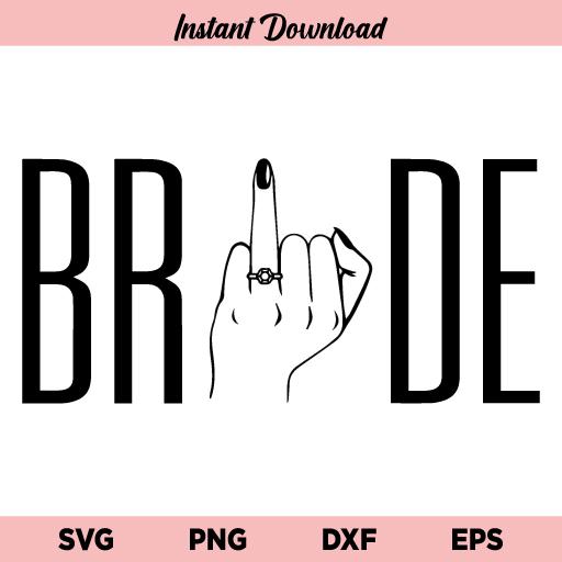 Bride Finger SVG, Bride Finger SVG Cut File, Bride SVG, Bride Tribe SVG, Bridal Party SVG, Bride Tribe SVG File, Bridal Party SVG, Bride SVG, Wedding Finger SVG, Wedding Ring SVG, PNG, DXF, Cricut, Cut File, Clipart