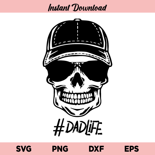 Dad Life Skull SVG, Dad Life Skull SVG Cut File, Dad Life Skull Design SVG, Dad Life SVG, Skeleton SVG, Skull SVG, Dad Life Skeleton SVG, Dad Life Cut File, Dad Life Skull, Dad Life, Skeleton, Skull, SVG, PNG, DXF, Cricut, Cut File