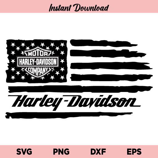 Harley Davidson US Flag SVG, Harley Davidson American Flag SVG, Harley Davidson Flag SVG, Harley Davidson SVG, USA Flag SVG, American Flag SVG, PNG, DXF, Cricut, Cut File