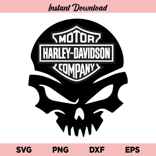 Harley Davidson Skull SVG, Harley Davidson Skull SVG Cut File, Harley Davidson Skull Head SVG, Harley Davidson Motorcycle SVG, Harley Davidson, Skull, SVG, PNG, DXF, Cricut, Cut File, Clipart