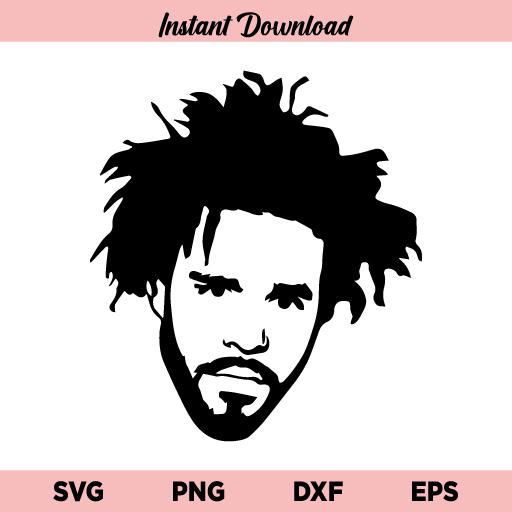 J Cole Rapper SVG, J. Cole SVG, J. Cole SVG Cut File, American rapper J Cole SVG, Jcole SVG, J Cole Rapper, SVG, PNG, DXF, Cricut, Cut File
