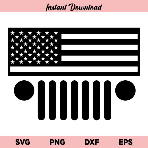 Jeep Grill Flag SVG, Jeep Grill US Flag SVG Cut File, Jeep Grill American Flag SVG, Jeep Grill SVG, US Flag SVG, US Jeep SVG, US Jeep Grill SVG File Design, SVG, PNG, DXF, Cricut, Cut File