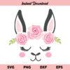 Floral Llama Face SVG, Floral Llama SVG, Llama SVG, Llama SVG file, Llama With Flower Crown SVG, Llama With Flowers on Head SVG, Cute Llama Face SVG, Floral Llama Face, SVG, PNG, DXF, Cricut, Cut File