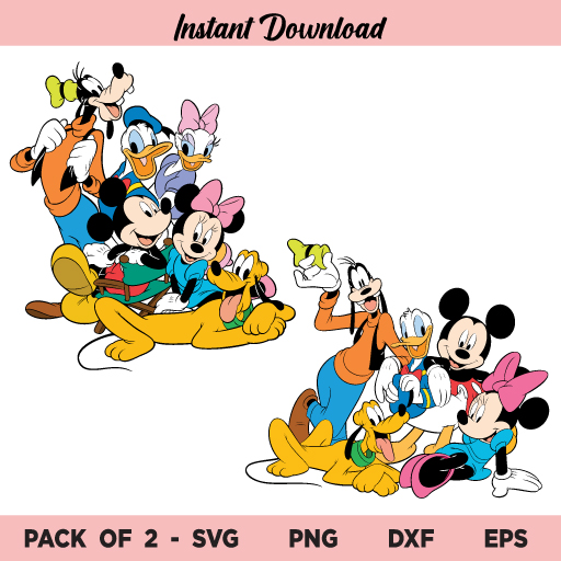 Mickey Mouse and Friends Bundle SVG, Mickey and Friends SVG, Mickey Mouse and Friends SVG, Mickey Friends SVG, Mickey Mouse SVG, Minnie SVG, PNG, DXF, Cricut, Cut File