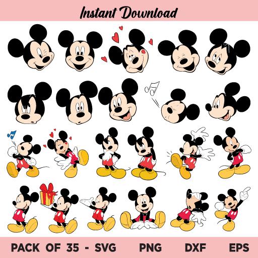 Mickey Mouse SVG, Mickey Mouse SVG Bundle, Mickey SVG, Mickey Mouse Head SVG, Mickey Mouse PNG, Mickey PNG, Mickey Mouse Shirt SVG, Mickey Mouse, SVG, PNG, DXF, Cricut, Cut File