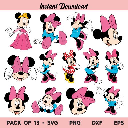 Minnie SVG Bundle, Minnie Mouse SVG, Minnie Mouse SVG Bundle, Minnie Mouse PNG, Minnie Mouse Bow Head SVG, Minnie Mouse SVG File Design, Minnie SVG, Minnie Mouse, SVG, PNG, DXF, Cricut, Cut File, Clipart