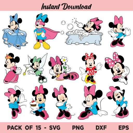 Minnie Mouse SVG Bundle, Minnie Mouse SVG, Minnie SVG Bundle, Minnie Mouse PNG, Minnie Mouse SVG Files, Minnie SVG, Minnie Mouse, SVG, PNG, DXF, Cricut, Cut File