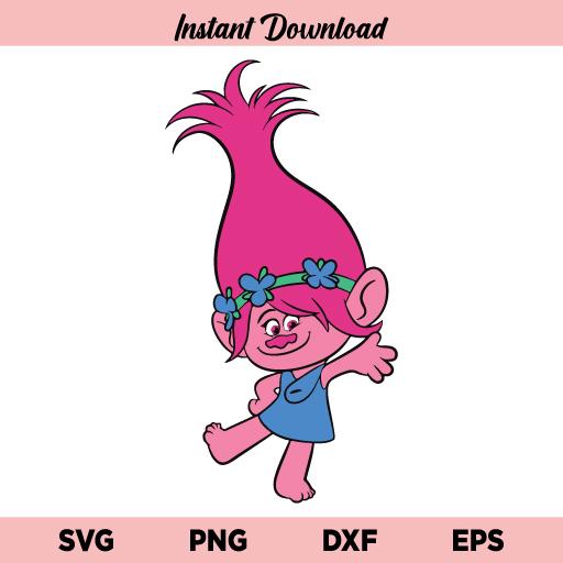 Poppy Trolls SVG, Poppy Trolls SVG Cut File, Poppy Trolls SVG File Design, Poppy Trolls SVG, Poppy SVG, Trolls SVG, Poppy Trolls, SVG, PNG, DXF, Cricut, Cut File