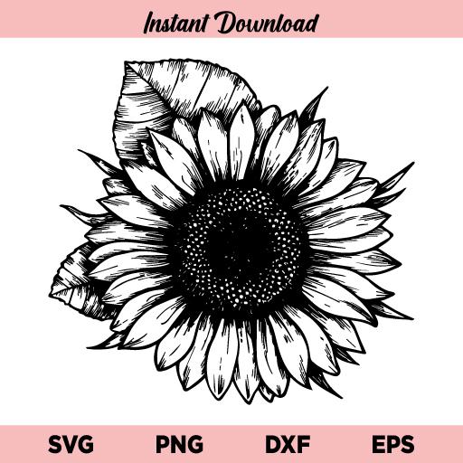 Sunflower SVG, Sunflower SVG File, Sunflower SVG Design, Sunflower Digital Download, Sunflower Monogram SVG, Flower SVG, Sunflower Template, Sunflower, SVG, PNG, Cricut, Cut File