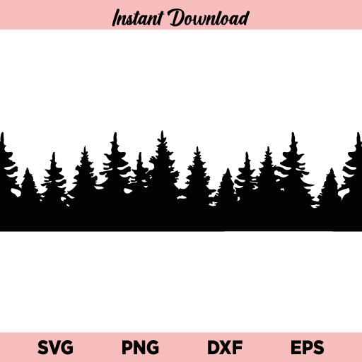 Treeline SVG, Treeline SVG File, Treeline SVG Cut File, Treeline SVG Design, Forestline SVG, Forestline SVG File, Forestline SVG Cut File, Treeline, Forestline, SVG, PNG, DXF, Cricut, Cut File, Clipart, Silhouette