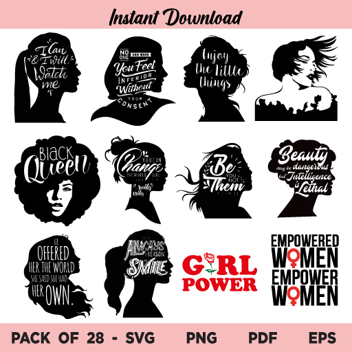 Empowered Women SVG Bundle, Women Empowerment Bundle SVG, Empowered Women SVG, Empower Women SVG, Women Empowerment SVG, Empowered Women, Women Empowerment, SVG, PNG, Cricut, Cut File, Digital Download