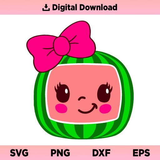 Cocomelon Girl SVG, Cocomelon Girl PNG, Cocomelon Girl Birthday SVG, Cocomelon SVG, Cocomelon Girl, PNG, DXF, Cricut, Cut File, Clipart