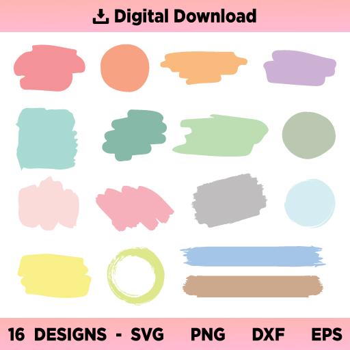 Paint Brush Strokes SVG, Keychain Pattern SVG, Paint Brush SVG, Colored Brush Stroke SVG Bundle Hand Drawn, Colored Brush Stroke SVG, Keychain Background SVG, Splatter SVG