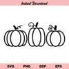 Fall Pumpkin SVG, Pumpkin SVG, Three Pumpkins SVG, Halloween SVG, Fall SVG, Halloween, Thanksgiving, Pumpkin SVG File, Autumn, Pumpkin, SVG, PNG, DXF, Cricut, Cut File