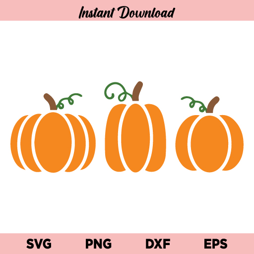 Pumpkins SVG Instant Digital Download, Pumpkin SVG File, Halloween Pumpkin SVG file, Fall Pumpkins SVG, Pumpkins, SVG, PNG, DXF, Cricut, Cut File