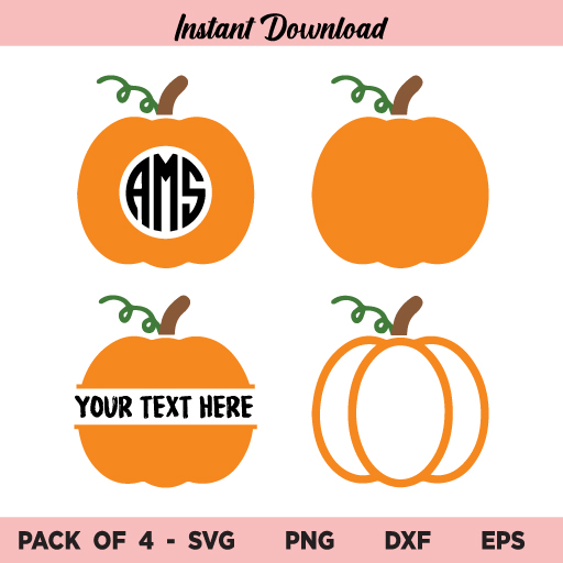 Pumpkin Monogram SVG, Pumpkin Monogram Frame SVG, Pumpkin SVG, Pumpkin Your Text Here SVG, Pumpkin Clipart SVG, Fall Door Sign, Fall, Pumpkin, Monogram, SVG, PNG, DXF, Cricut, Cut File