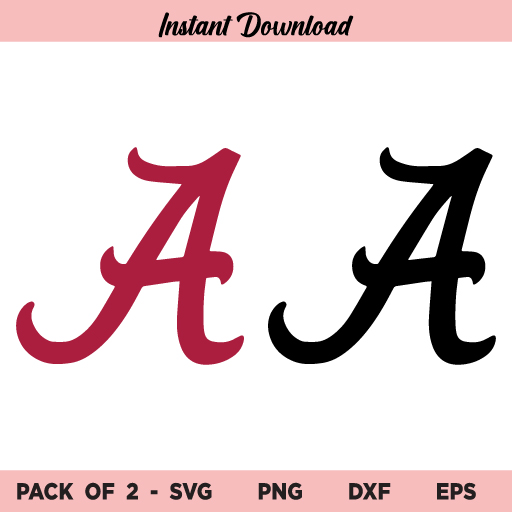 Alabama Crimson Tide Logo SVG Bundle, Alabama Crimson Logo SVG, Alabama Logo SVG, Alabama Crimson SVG