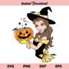 Belle Halloween SVG, Belle SVG, Halloween SVG, Beauty and the Beast SVG, Belle Disney Halloween SVG, Disney Princess SVG, Belle Halloween Princess SVG, PNG, DXF, Cricut, Cut File