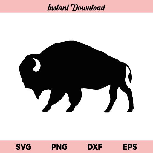Bison SVG, Black Bison SVG File, American Bison SVG, Black Solid Buffalo SVG, Black Buffalo SVG, Animal SVG, Black Solid Buffalo SVG, PNG, DXF, Cricut, Cut File