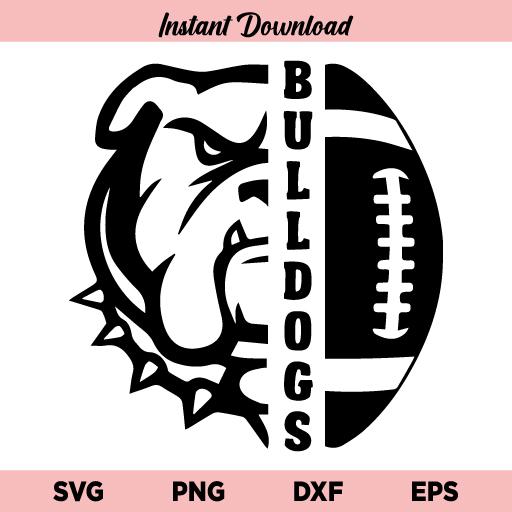 Bulldogs Football SVG, Bulldogs Football SVG Files, Bulldogs SVG, Football SVG, Bulldogs Football T-shirt Design, Football Mom Shirt, Bulldogs Football, SVG, PNG, DXF, Cricut, Cut File