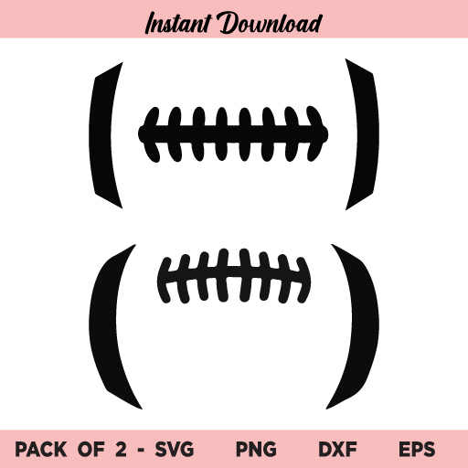 Football SVG, Football SVG Files, Football Outline SVG, Football Laces SVG, Sports, Football, American Football, SVG, PNG, DXF, Cricut, Cut File
