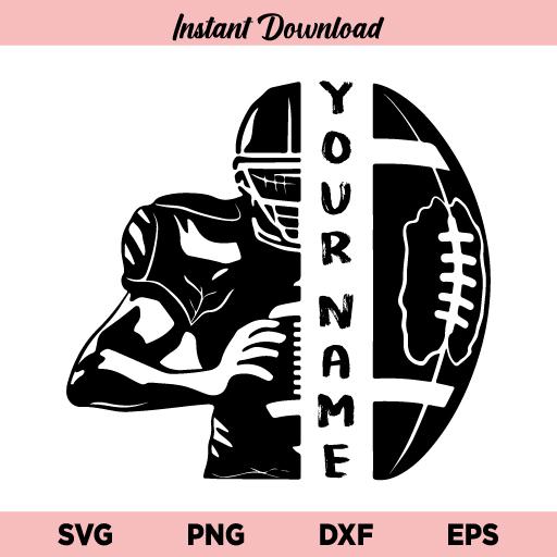 Football Player SVG, Football Half Player SVG, Football SVG, Half Football Player SVG File, Football, Player, Half Football Half Player, SVG, PNG, DXF, Cricut, Cut File, Clipart