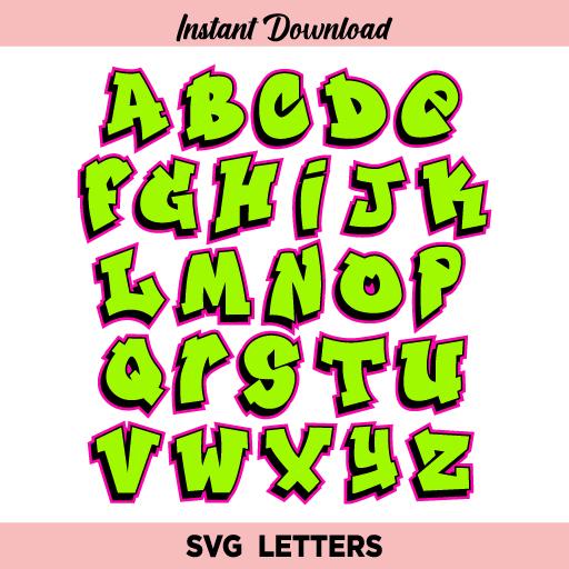 Fresh Prince Font SVG, Fresh Font SVG, Fresh Prince Alphabet SVG, Fresh Prince Letters SVG, Fresh Prince Graffiti Font SVG, Graffiti Alphabet, Graffiti Letters, Graffiti, SVG, PNG, DXF, Cricut, Cut File