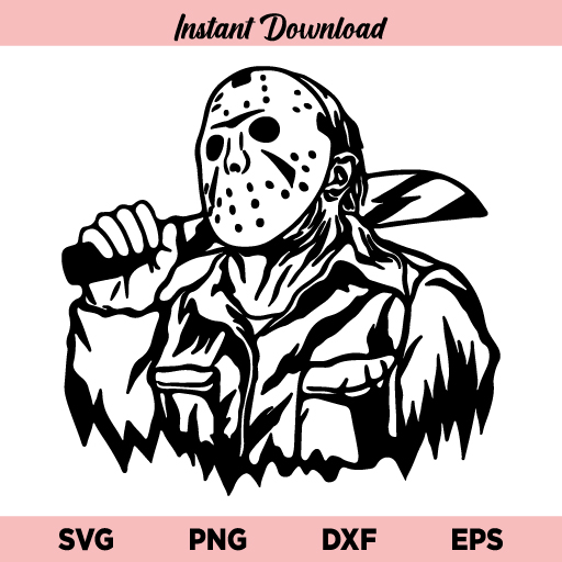 Jason Friday SVG, Jason Voorhees SVG, Friday The 13th SVG, Horror Halloween SVG, Jason Voorhees Halloween SVG, Jason Voorhees Villain SVG, Jason Mask Friday the 13th SVG, PNG, DXF, Cricut, Cut File