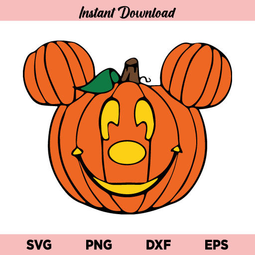 Mickey Mouse Pumpkin SVG, Mickey Pumpkin SVG, Mickey Jack-O-Lantern Pumpkin SVG, Mickey Mouse SVG, Pumpkin SVG, Disney Halloween SVG, Halloween SVG, PNG, DXF, Cricut, Cut File