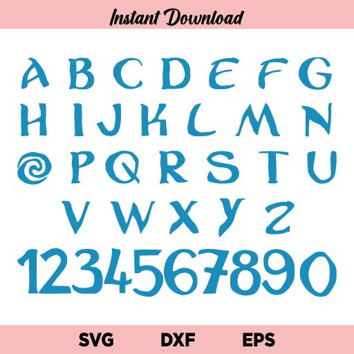 Moana Font SVG, Moana Disney Font SVG, Moana SVG, Font SVG, Moana Alphabet SVG, Disney Font SVG, Moana Font