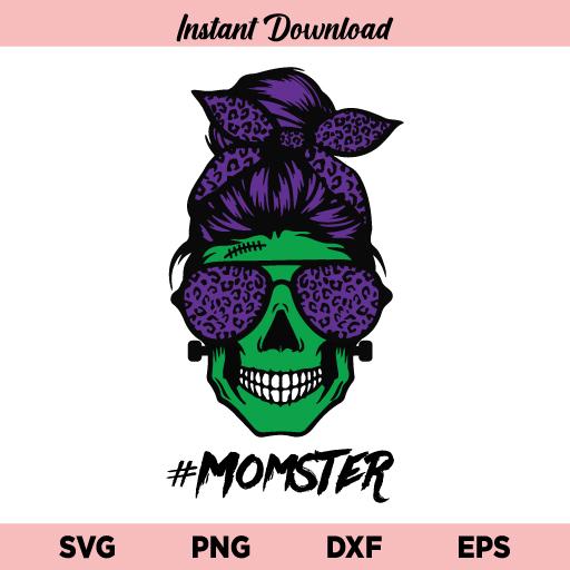 Mom of Monsters Skull SVG, Mom of Monsters SVG, Halloween Mom Skull SVG, Momster SVG, Mother Skull Halloween SVG, Mom Monster SVG, Mom of Monsters Skull
