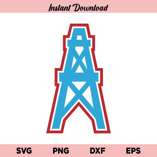Houston Oilers Logo SVG, Oilers Logo SVG File, Houston Oilers SVG, Oilers