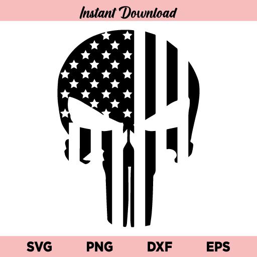 Punisher Skull US Flag, Punisher American Flag SVG, Punisher Skull SVG, US Flag SVG American Flag SVG, Punisher Flag SVG