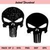 The Punisher Logo SVG, The Punisher SVG, Punisher Skull Logo SVG, Distressed Punisher Skull Logo SVG, Punisher SVG