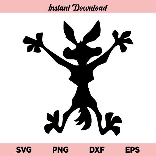 Wile E Coyote SVG, Wile Coyote SVG, Wile E Coyote Splat Flat SVG, Looney Tunes SVG