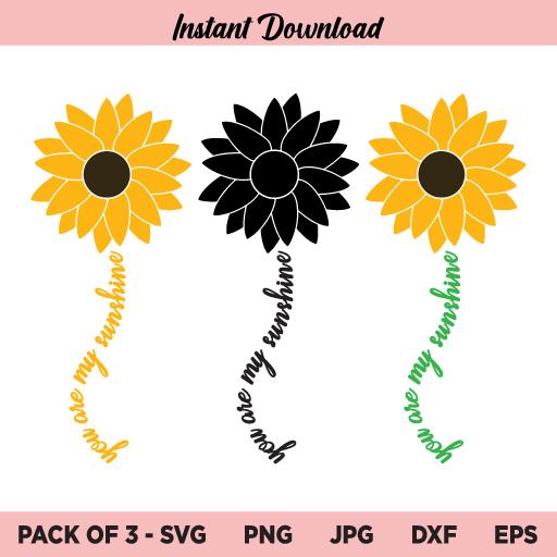 You Are My Sunshine Sunflower SVG Bundle, Sunflower You Are My Sunshine SVG, Sunflower SVG, You Are My Sunshine SVG, Sunflower Quotes SVG