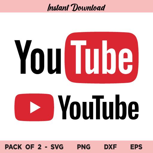 Youtube SVG, YouTube Logo SVG, YouTube Logo SVG File, YouTube SVG Bundle, Youtube