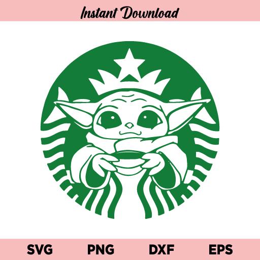 Baby Yoda Starbucks SVG, Baby Yoda Coffee SVG, Baby Yoda SVG, Coffee SVG, Starbucks SVG, Baby Yoda Starbucks