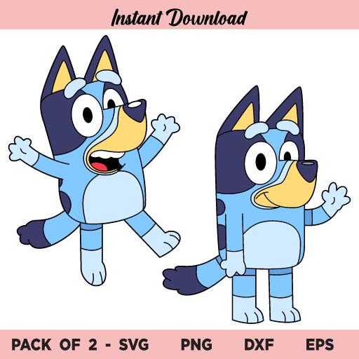 Bluey SVG, Bluey Cartoon Dog SVG, Cartoon Dog SVG, Bluey Dog SVG, Bluey
