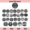 Circle Monogram Letters SVG, Circle Monogram SVG, Round Circle Alphabet SVG, Round Monogram SVG, Monogram Font SVG