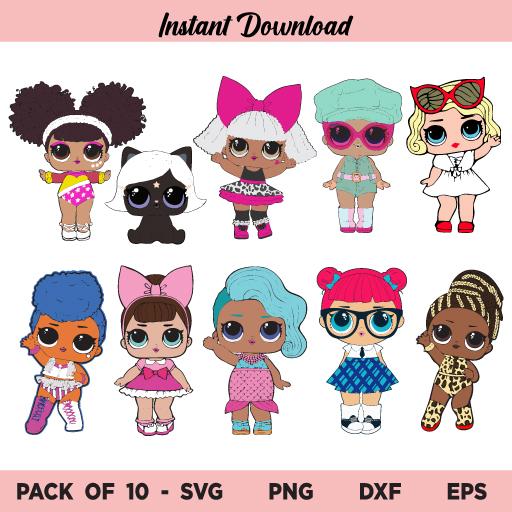 Lol Doll SVG Bundle, Lol Doll SVG, Baby Lol Doll SVG, Surprise Doll SVG, Lol Doll